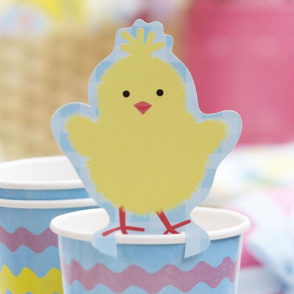 Easter Chick Glass Decorations (10)